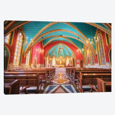 Interior Of The Cathedral II Canvas Print #GLM470} by Glauco Meneghelli Canvas Wall Art