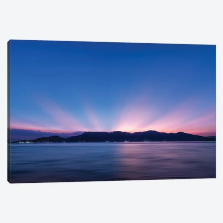 Sunset Over The Sea Canvas Print #GLM471} by Glauco Meneghelli Canvas Art