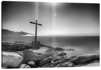 Cross On The Rocks Canvas Art Print
