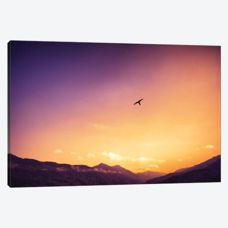 Sunset Over The Mountains Canvas Print #GLM478} by Glauco Meneghelli Canvas Wall Art