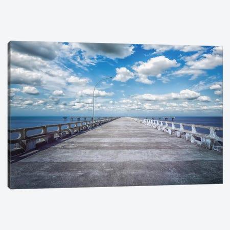 Pier On The Beach Canvas Print #GLM482} by Glauco Meneghelli Canvas Art Print