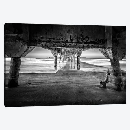 Pier On The Beach2 Canvas Print #GLM483} by Glauco Meneghelli Canvas Print