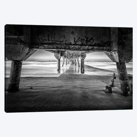 Pier On The Beach2 Canvas Print #GLM483} by Glauco Meneghelli Canvas Print