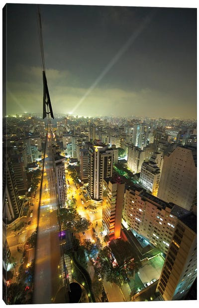 Sao Paulo At Night Canvas Art Print