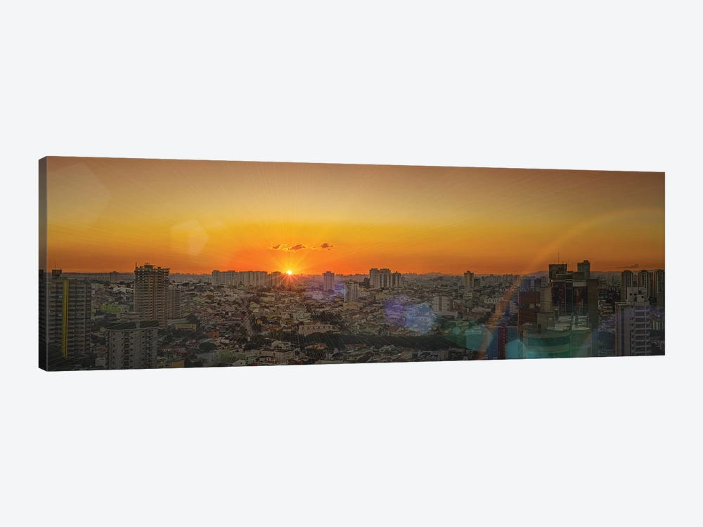 Sunset At City Panorama by Glauco Meneghelli 1-piece Canvas Art