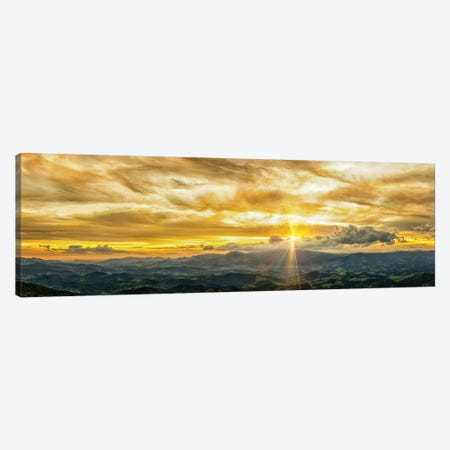 Golden Hour Panorama Canvas Print #GLM544} by Glauco Meneghelli Canvas Print