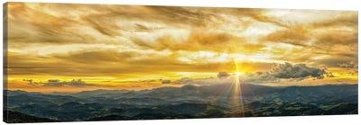 Golden Hour Panorama Canvas Art Print
