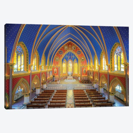 Basilica Of Our Lady Of The Rosary, Caieiras Canvas Print #GLM5} by Glauco Meneghelli Canvas Artwork