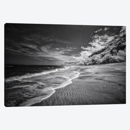 Beach Black & White - Bahia, Brazil Canvas Print #GLM7} by Glauco Meneghelli Canvas Artwork