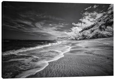 Beach Black & White - Bahia, Brazil Canvas Art Print