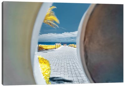 Beach View - Miami, Florida Canvas Art Print