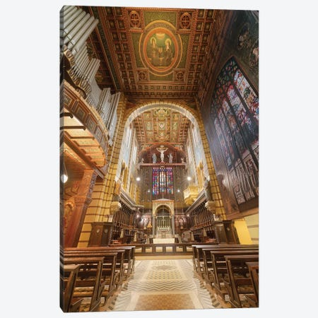 Inside Sao Bento's Church - Sao Paulo, Brazil Canvas Print #GLM92} by Glauco Meneghelli Canvas Print