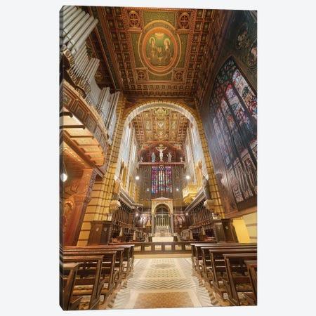 Inside Sao Bento's Church - Sao Paulo, Brazil Canvas Print #GLM92} by Glauco Meneghelli Canvas Print