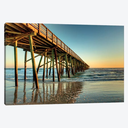 Pier to the Sea Canvas Print #GLT10} by Glenn Taylor Canvas Wall Art