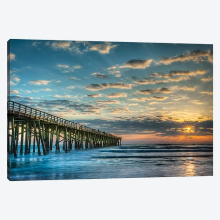Serenity Sunset Canvas Print #GLT15} by Glenn Taylor Art Print