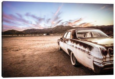 Abandoned Car Canvas Art Print