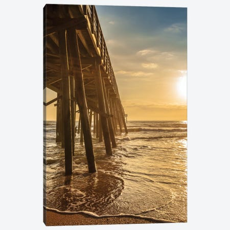 Golden Pier Canvas Print #GLT5} by Glenn Taylor Canvas Wall Art
