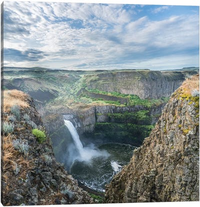 USA. Washington State. Palouse Falls in the spring, at Palouse Falls State Park. Canvas Art Print