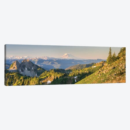 USA. Washington State. Panorama of Mt. Adams, Goat Rocks and Double Peak Canvas Print #GLU17} by Gary Luhm Canvas Wall Art