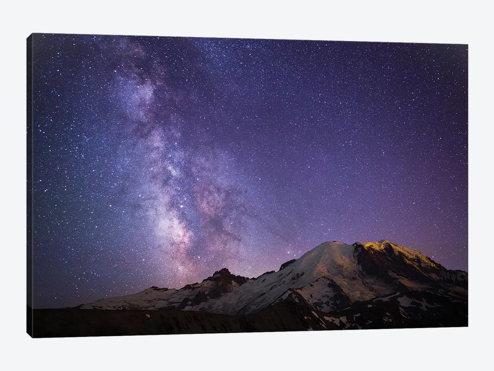 Milky Way As Seen From Mount Rainier, Mount Rainier National Park, Washington, USA by Gary Luhm 1-piece Canvas Art Print