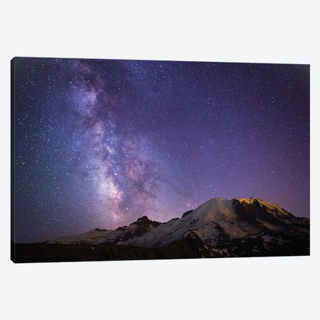 Milky Way As Seen From Mount Rainier, Mount Rainier National Park, Washington, USA Canvas Print #GLU3} by Gary Luhm Canvas Artwork