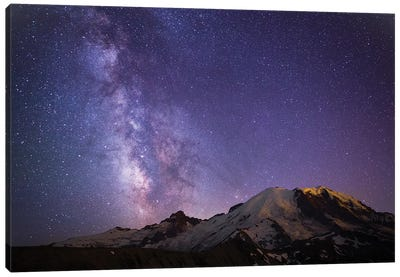Milky Way As Seen From Mount Rainier, Mount Rainier National Park, Washington, USA Canvas Art Print