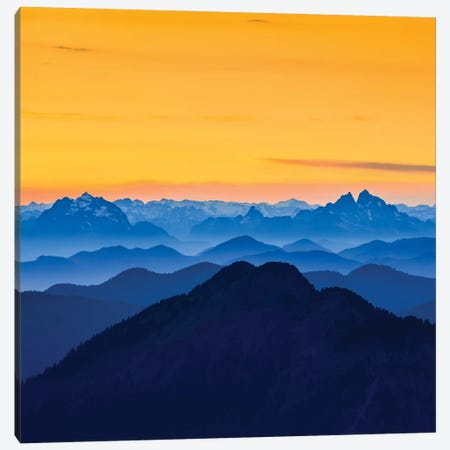USA, Washington State. Skyline Divide in the North Cascades, Mt. Baker. Canvas Print #GLU9} by Gary Luhm Canvas Wall Art