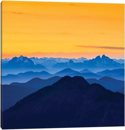 USA, Washington State. Skyline Divide in the North Cascades, Mt. Baker. Canvas Art Print