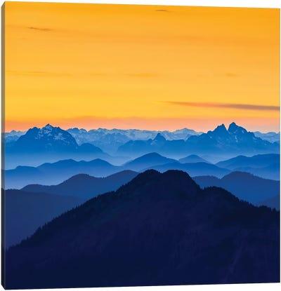 USA, Washington State. Skyline Divide in the North Cascades, Mt. Baker. Canvas Art Print