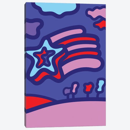 Shooting Star Canvas Print #GMA108} by Greg Mably Canvas Wall Art