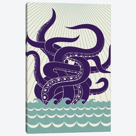 Sea Monster Canvas Print #GMA13} by Greg Mably Canvas Wall Art
