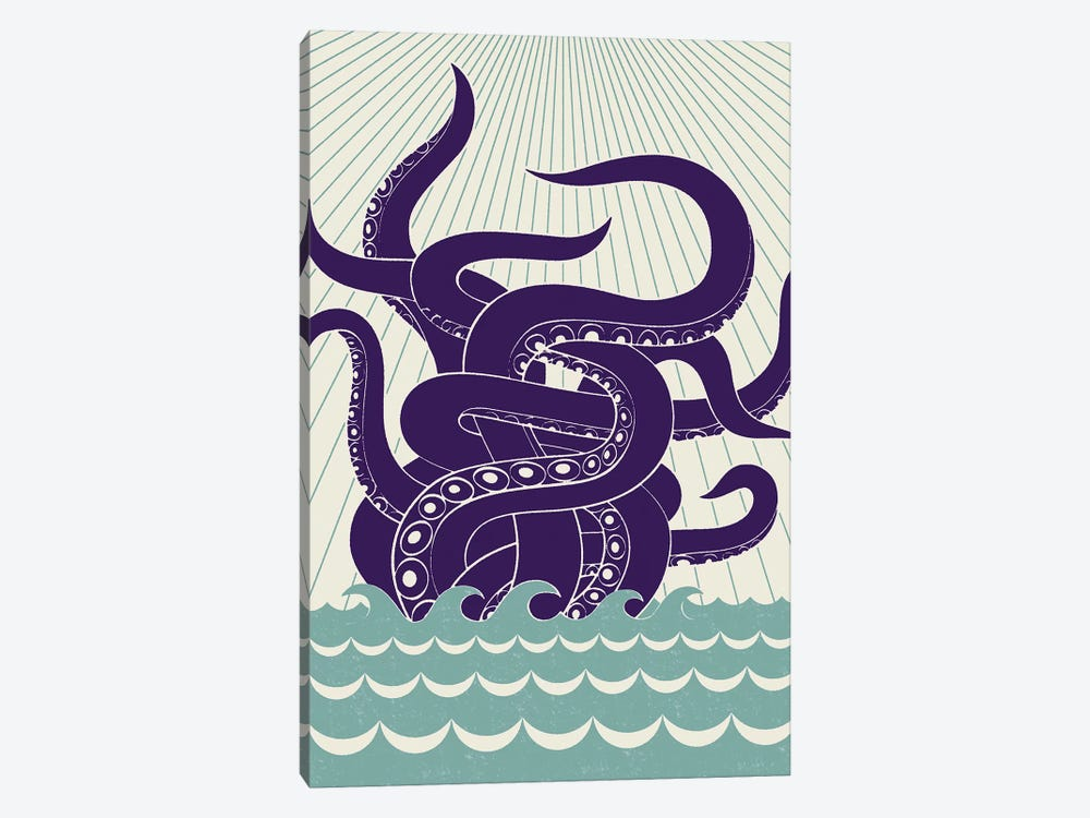 Sea Monster by Greg Mably 1-piece Canvas Print