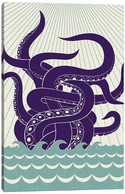 Sea Monster Canvas Art Print