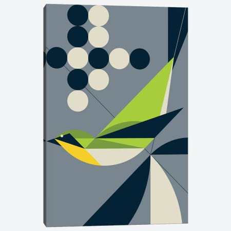 Warbler Canvas Print #GMA14} by Greg Mably Canvas Print