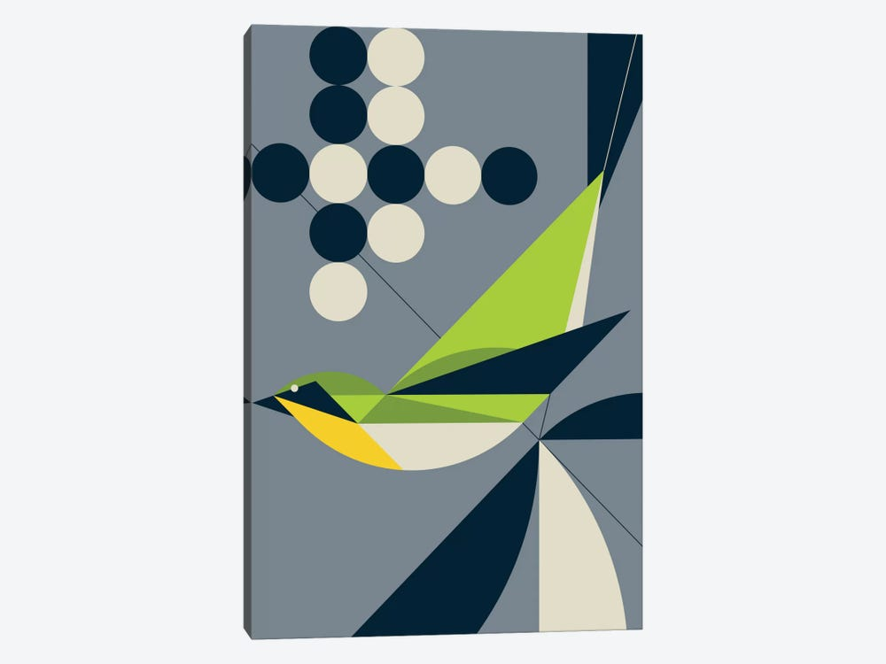 Warbler by Greg Mably 1-piece Canvas Artwork