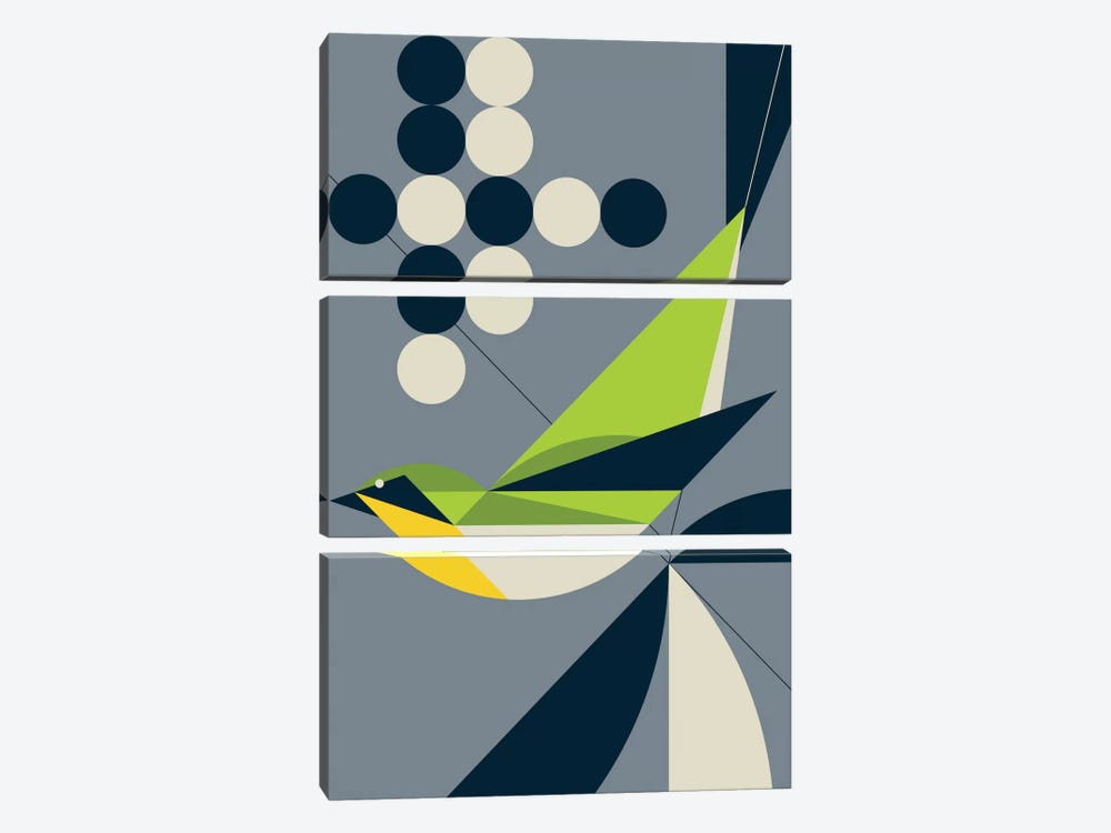 Warbler by Greg Mably 3-piece Canvas Artwork