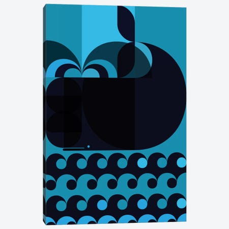 Grand Cachalot Dark Canvas Print #GMA15} by Greg Mably Canvas Print
