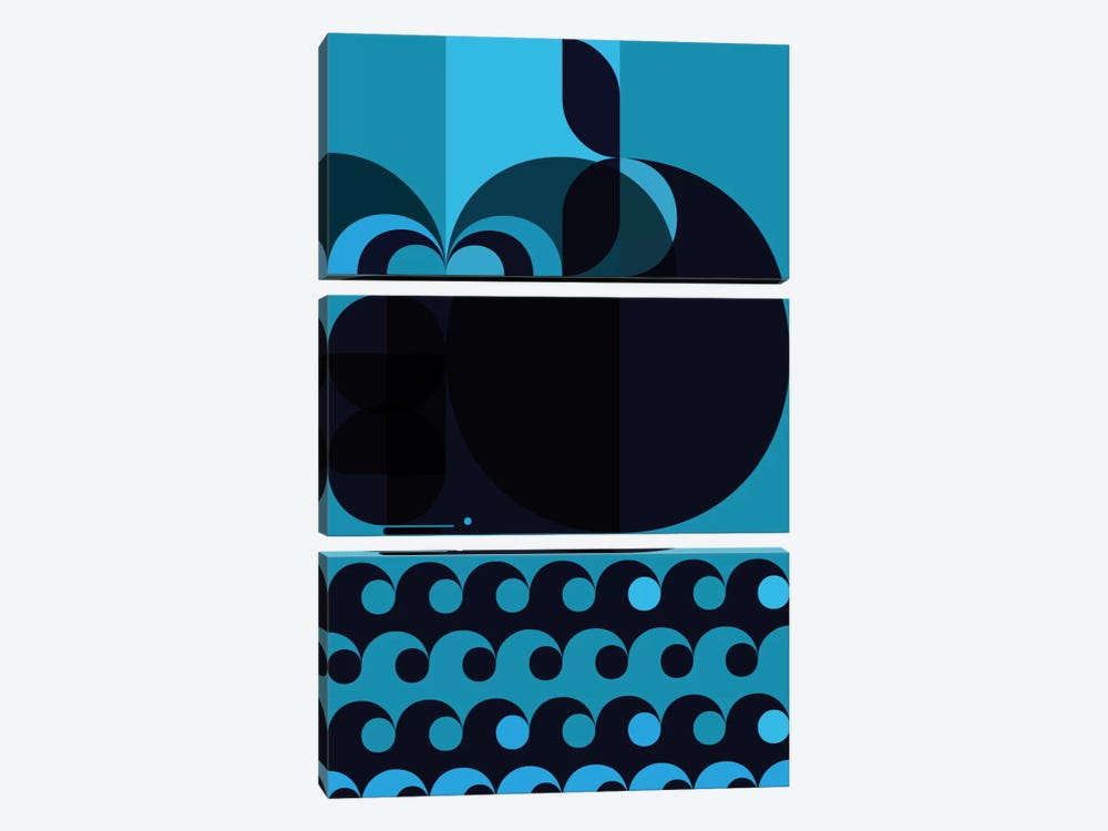 Grand Cachalot Dark by Greg Mably 3-piece Art Print