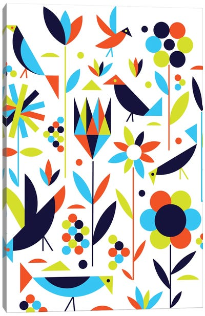 Birds & Flowers Canvas Art Print