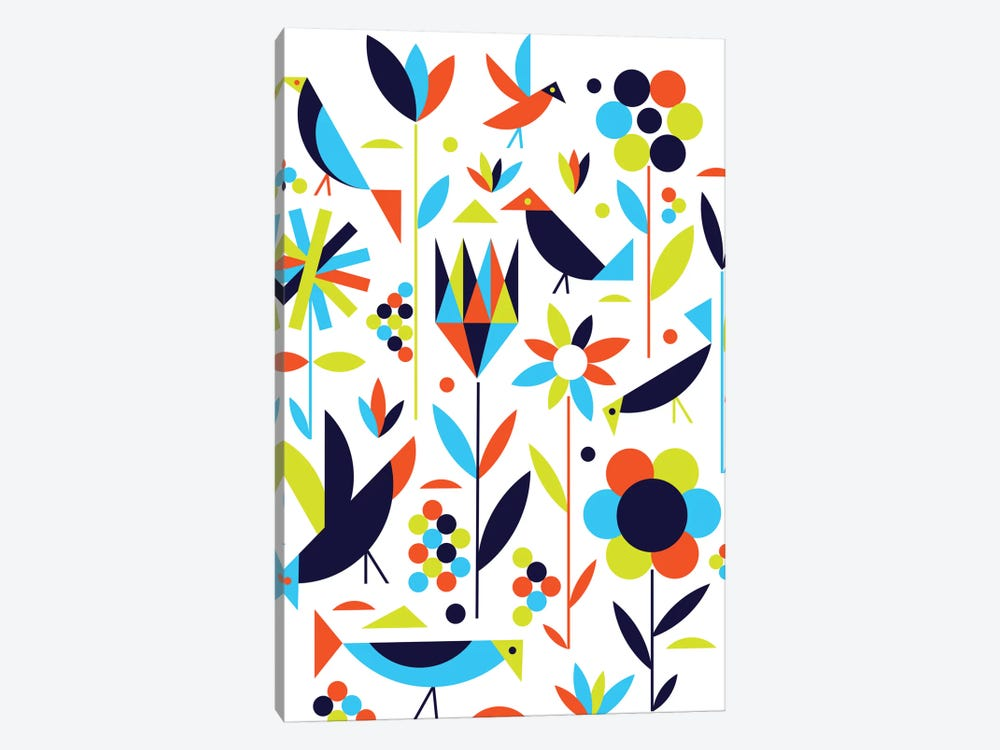Birds & Flowers by Greg Mably 1-piece Canvas Art