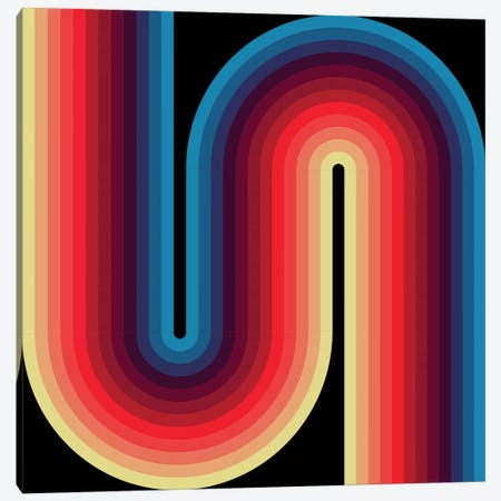 Flow Dark I Canvas Print #GMA30} by Greg Mably Canvas Wall Art