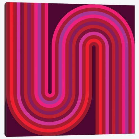 Flow Hot I Canvas Print #GMA33} by Greg Mably Canvas Art