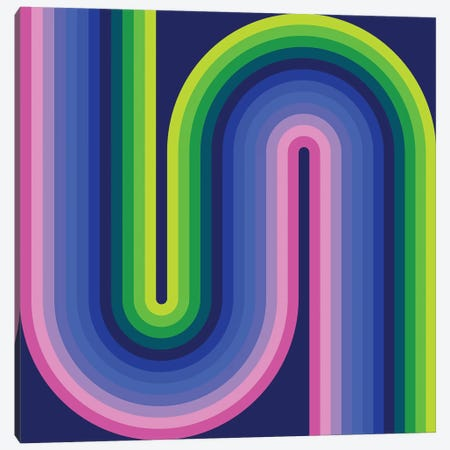 Flow Neon I Canvas Print #GMA39} by Greg Mably Canvas Artwork