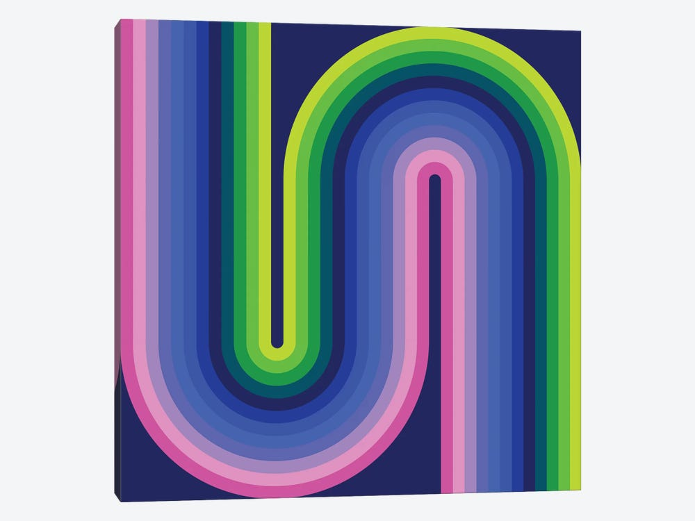 Flow Neon I by Greg Mably 1-piece Art Print