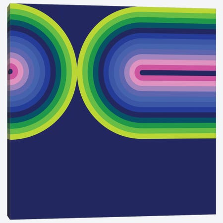 Flow Neon III Canvas Print #GMA41} by Greg Mably Art Print