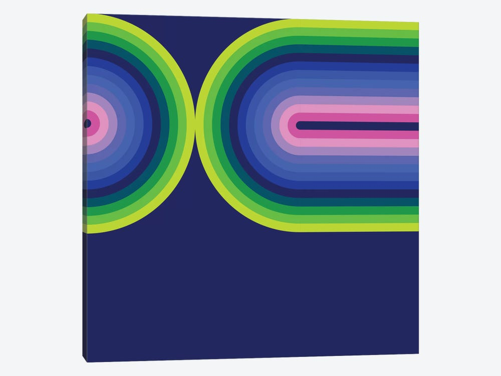 Flow Neon III by Greg Mably 1-piece Canvas Wall Art
