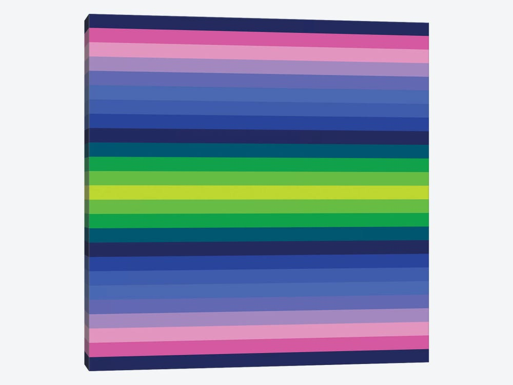Flow Neon IV by Greg Mably 1-piece Canvas Art Print