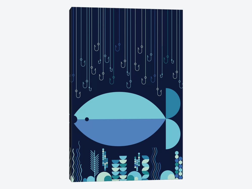 Fish & Hooks by Greg Mably 1-piece Art Print