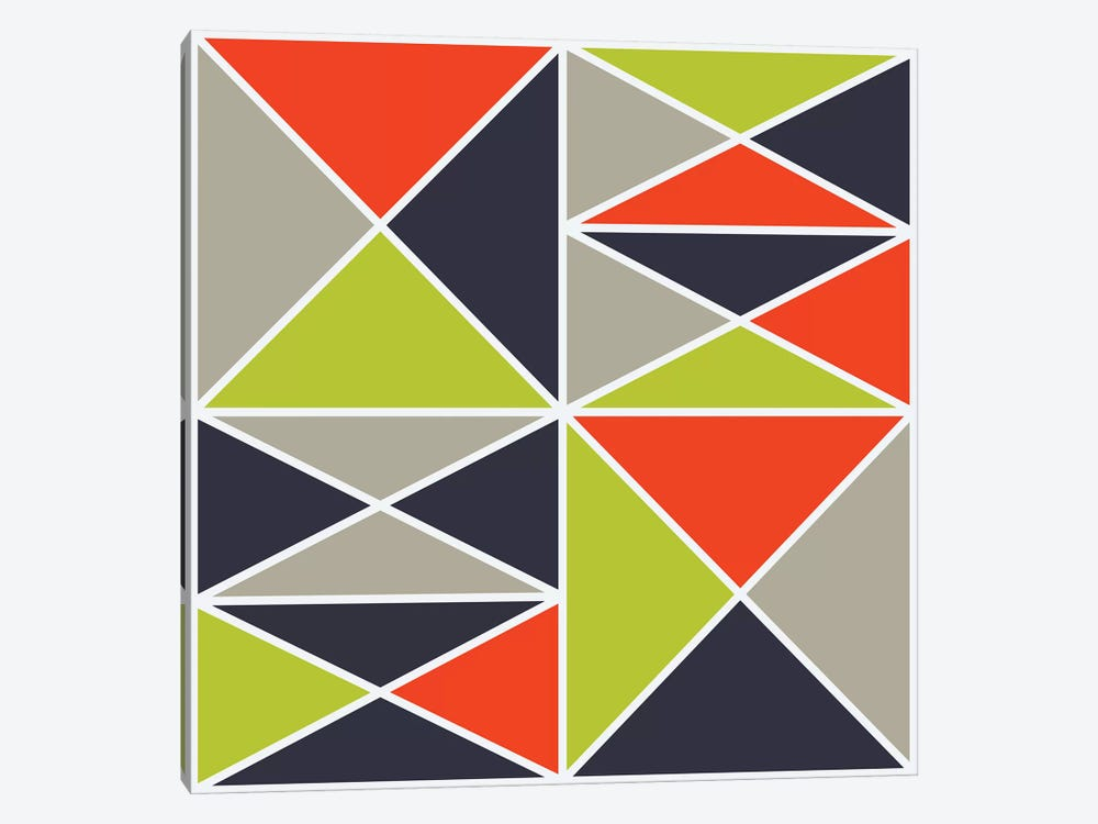 Structure III (Warm) by Greg Mably 1-piece Canvas Artwork