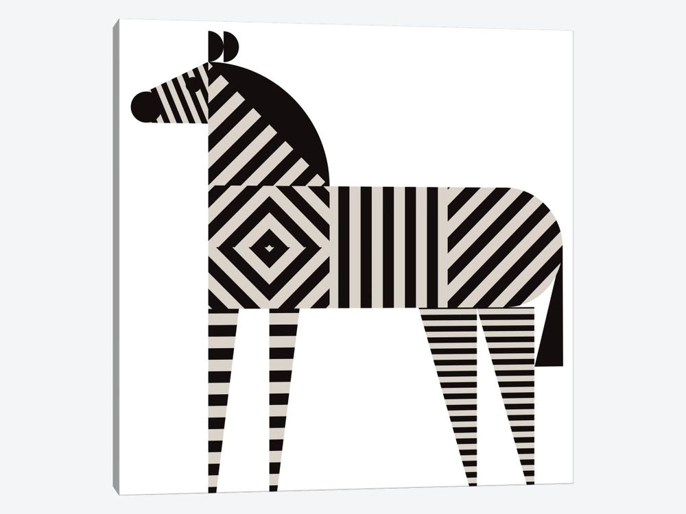 Zebra Stripe by Greg Mably 1-piece Canvas Art